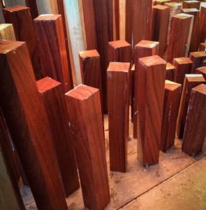 bloodwood pool cue blanks